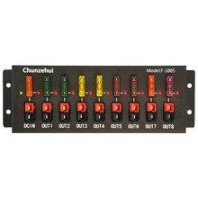 Chunzehui F 1005 9 포트 40a 커넥터 전원 분배기 분배기 소스 스트립, 1 입력 및 8 출력.