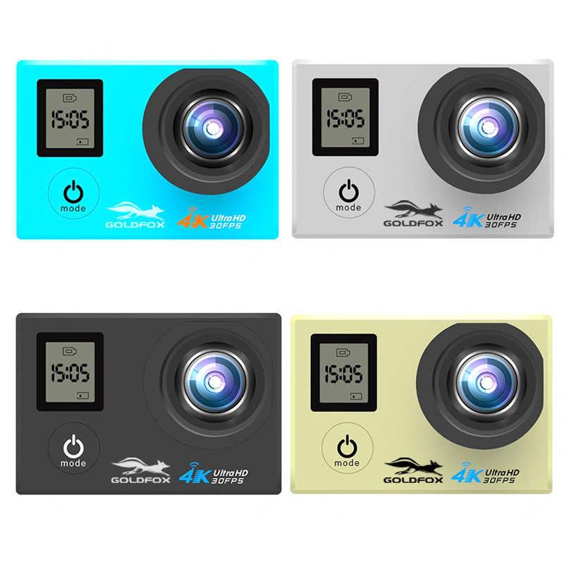 LCD Dual Layar Ultra HD 4K Action Camera 16MP Wifi 1080P Olahraga Aksi Kamera Pergi Tahan Air PRO Sepeda helm Cam + Remote Control