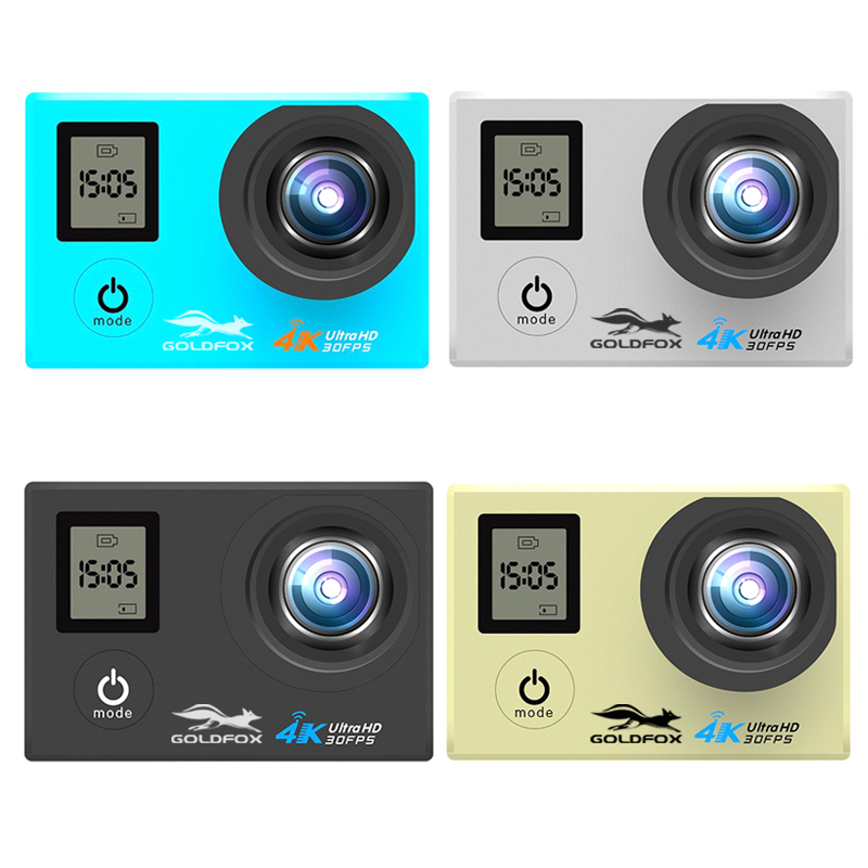 LCD Dual Screen Ultra HD 4K Action Camera 16MP Wifi 1080P Action Sports Camera Go Waterproof pro Bike Helmet Cam Remote Control in Sports Action Video Camera from Consumer Electronics