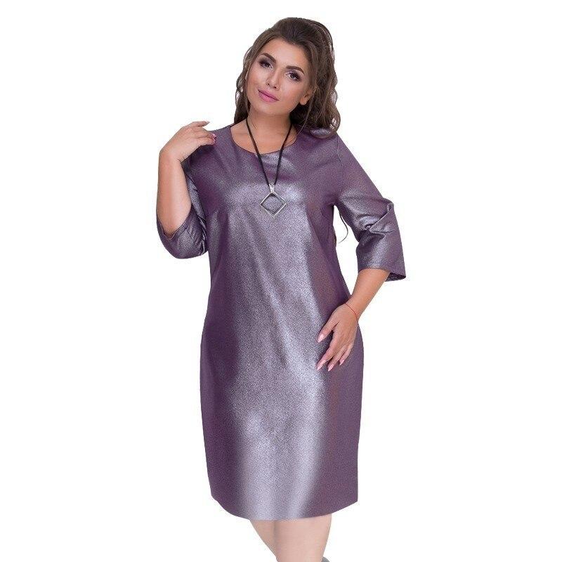 US $15.62 54% OFF|Pu Leather Christmas Party Dress Plus Size Winter Dress  Bodycon Women Dress Female 5XL 6XL Black Club Dress 2018 Large Vestidos-in  ...
