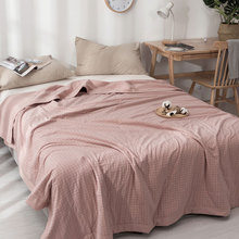 japan style water washed 100% Cotton Gauze Blanket Muslin Quilt Comforter Bedding Quilted Coverlet Soft Summer