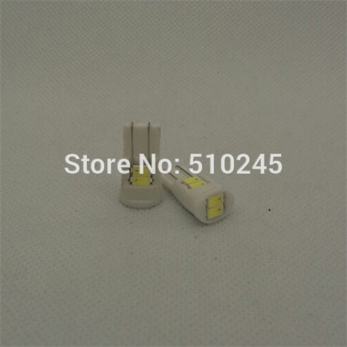 100X new arrival T10 W5W 194 168 High Power 6 LED 5630 SMD Ceramic Bulb Car Auto Side Light lamp free shipping