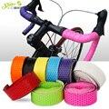 Wasserdichte Waben PU Rennrad Lenker Band Leder Anti-slip Fahrrad Griffe Kork Lenker klebeband Stecker gürtel straps