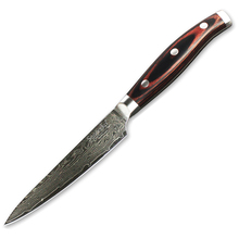 Sunnecko 5 inches Damascus Steel Utility Knives with Pakka Wood Handle Professional Cooking Tools Strong Hardness Kitchen Knife