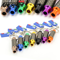 Ace speed-New Aluminum Exhaust Tail Pipe Tuning Keychain Car parts Key Chain Keyring 8 Colors to Choose