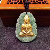 Jade Necklace Gold Yellow Jasper Jade Pendants for Men jewelry jade pendant buddha best selling 2018 Good Luck