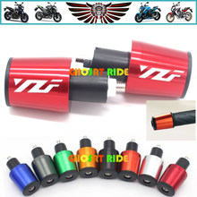 CNC 22MM Handlebar Grips Handle Bar Cap End Plugs For Yamaha YZF R1 YZF R6 YZFR6 YZF R125 YZFR15 R25 YZF R3(China)
