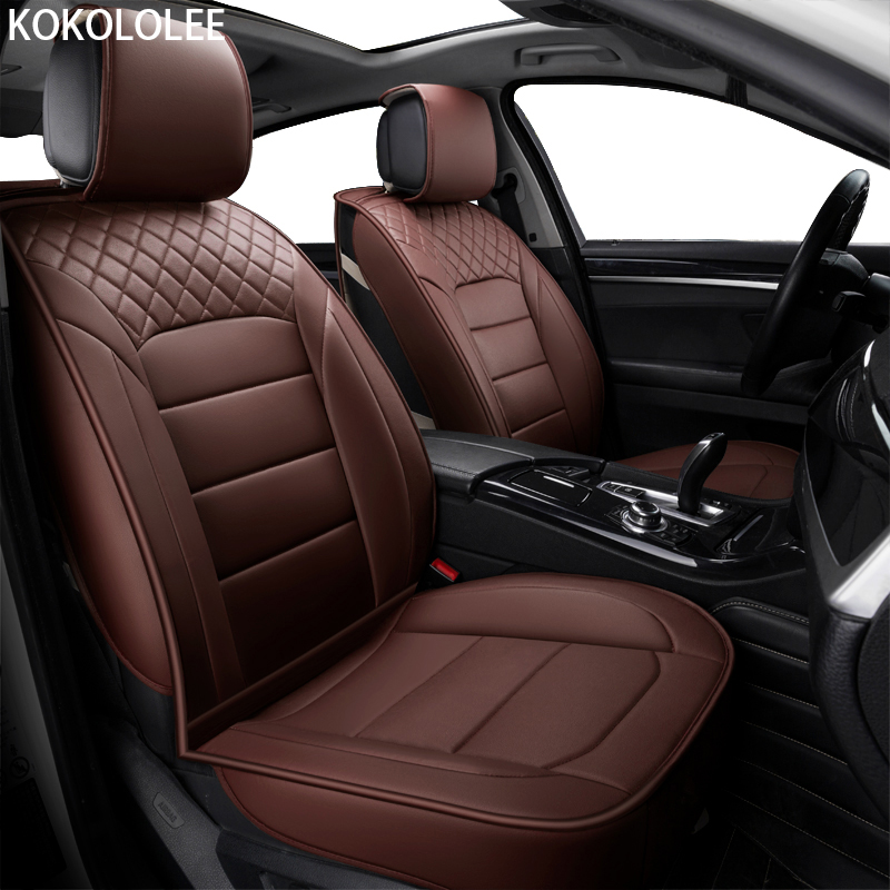 [KOKOLOLEE] pu car seat cover universal seat Covers for Hyundai solaris ix35 i30 ix25 Elantra accent cars cushion car-styling brand leather black brown car seat cover front&rear complete seat for hyundai sonata elanter accent ix30 ix35 cushion covers