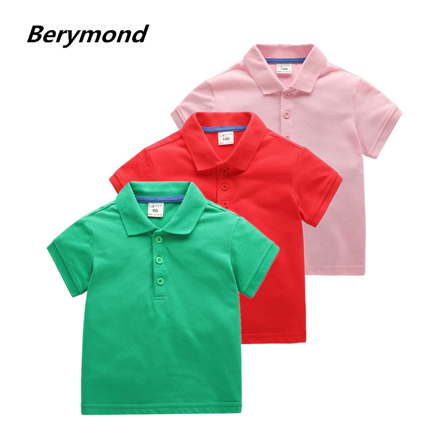 High Quality Kids Boys Polo Shirt Baby Boy Girl Clothes Summer Short Sleeve Cotton Solid White Red Yellow Polo Shirt 7 Color freeshipping summer children boy baby kids black blue white cartoon pattern short sleeve sports cotton shirt t shirt pexz01p59