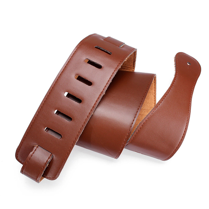Zebra 1Pcs 115cm Brown Adjustable Soft PU Leather Ukulele Guitar Belts Guitar Strap For Acoustic Guitar Bass Parts Accessories