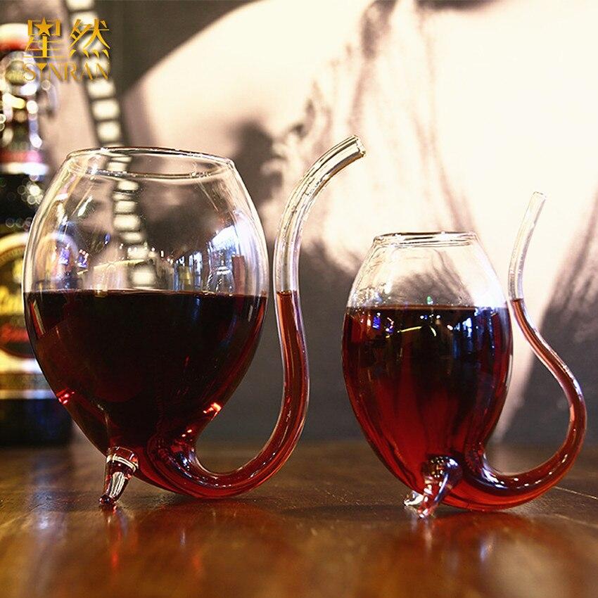 1pcs Glasses Stylish Red Wine Glass Wine Beer Juice Coffee Milk Glass Water Glass Mug Whiskey Vodka Shot Cup Bar Supplies