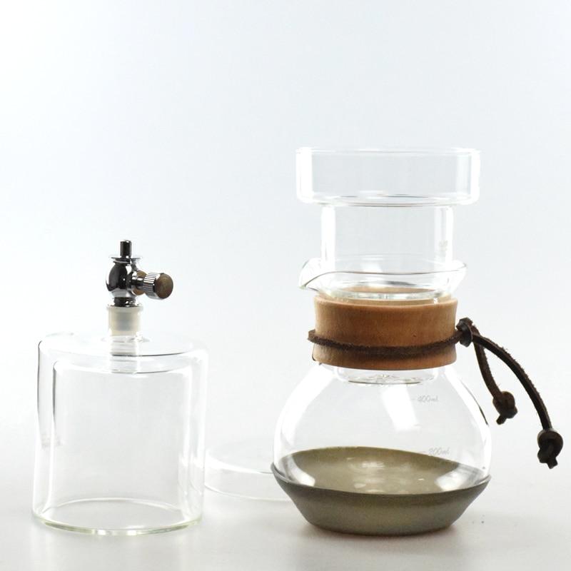 Heatproof Iced Coffee Brewer 400ML Dutch Coffee Drip With 100Pcs Round Filters