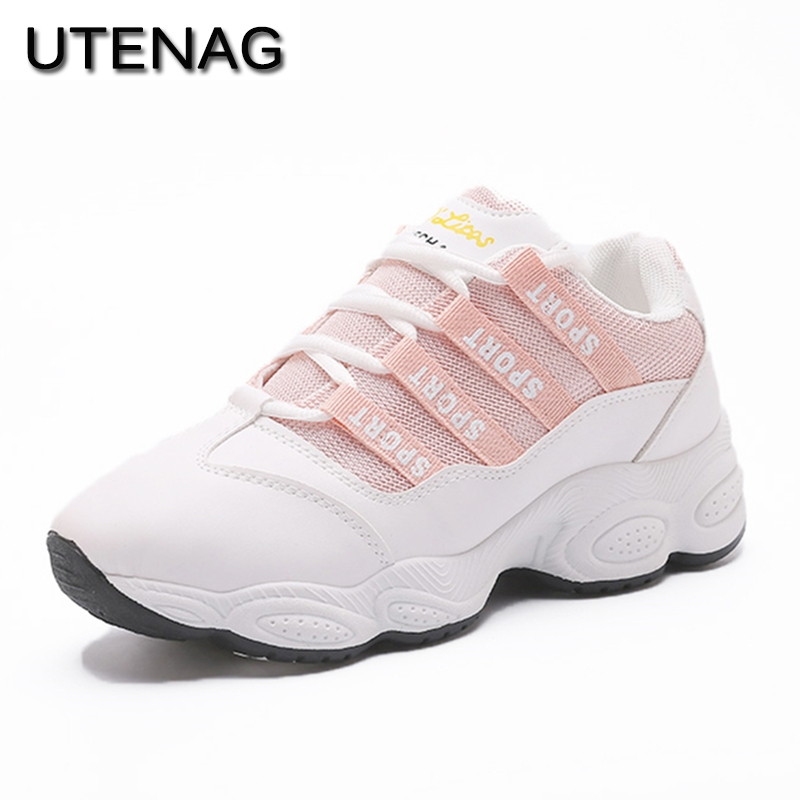 2018 summer for adults Women Sneakers Breathable flat Bottom Lace-Up Height Increasing Comfortable Fashion casual Walking shoes women s shoes 2017 summer new fashion footwear women s air network flat shoes breathable comfortable casual shoes jdt103