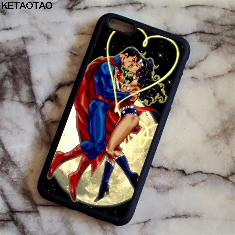 Ketaotao Джокер Супермен Wonder Woman Batgirl Supergirl Телефонные Чехлы для iPhone 6 7 8 X для Samsung Чехол Мягкий ТПУ Резиновая силиконовые