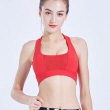 Sport Shirt Women Running Bra Fitness Yoga Top Sports Underwear No Wire-rim Bras