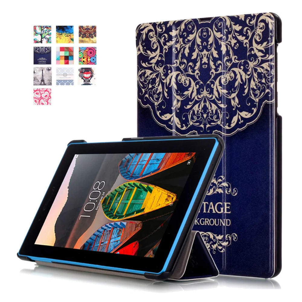 TAB3-710F Smart Cover For Lenovo Tab 3 Tab3 Essential 710F 710I Tablet Case Slim PU Leather Case Flip Cover Protective shell