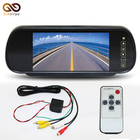 Sinairyu 10 Pcs 1 Lot 7 Inch TFT Color Mirror LCD Car Rearview Screen Monitor In
