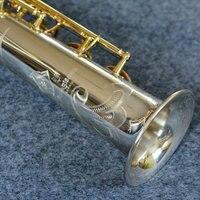 YANAGISAWA S 9030 Worldwide Musical B Flat Soprano Saxophone Brass Silvering Integral Sax Straight Curved Mouthpiece
