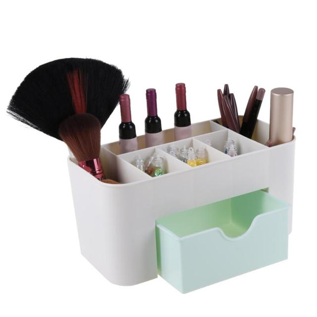 6 Grid Makeup Organizer Box Brush Holder Jewelry Organizer Case Jewelry Makeup Cosmetic Storage Box