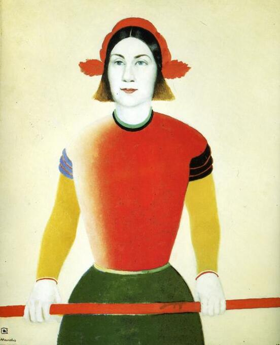 High quality Oil painting Canvas Reproductions Girl with Red Flagpole (1933) By Kazimir Malevich hand paintedHigh quality Oil painting Canvas Reproductions Girl with Red Flagpole (1933) By Kazimir Malevich hand painted