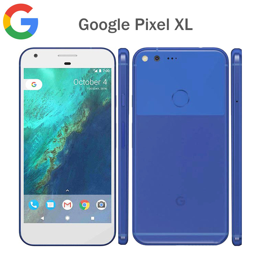 EU version Google Pixel XL 4G LTE Mobile Phone 5.51440x2560P 4GB RAM 32GB/128GB ROM Snapdragon821 QuadCore Fingerprit NFC Phone image