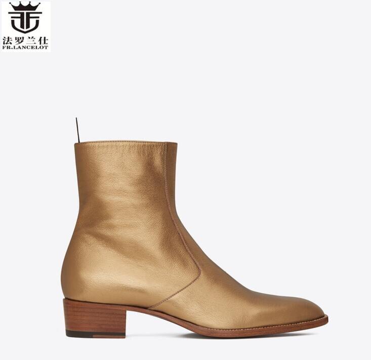 Cuir As Cheville Tendance Tenue Style 2019 De Fête 2 En Chaussures Haute Zip 1 Britannique Chelsea Showed Vache Hommes FrLancelot Bottines Bottes Top as shrCdtQx