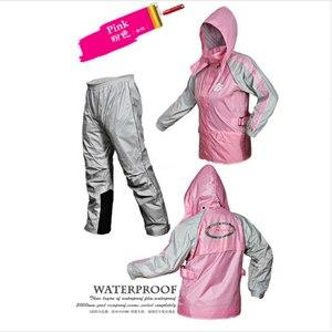Image 4 - אופנה מעיל גשם גברים עמיד למים מעיל גשם חליפת אופנוע גשם מעיל פונצ ו גדול גודל גשם מעיל חיצוני ספורט חליפת מעיל
