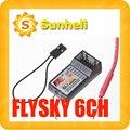 Flysky peso ligero 6CH 6CHANNEL receptor para TURNIGY TGY 9X FS-R6B FS RC helicóptero