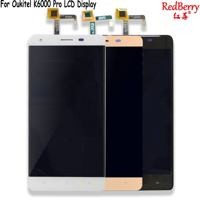 Redberry Pour Oukitel K6000 Pro Écran lcd 5.5 Pouce Mobile Téléphone Écran Tactile Digitizer Assemblée Pièces De Rechange Avec Des Outils