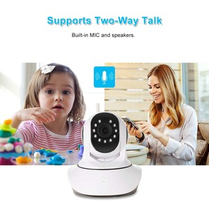 Image 5 - Monitor de bebé con Sensor de humedad y temperatura de visión nocturna de Audio bidireccional PTZ compatible con cámara IP WIFI HD Pan Tilt inalámbrica de 1080P