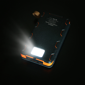 Phone Charger 10000mAh Solar Phone Charger Power Bank Dual USB for iPhone 4s 5 5s SE 6 6s 7 7plus iPad Samsung s7 s8 HTC LG Sony 3