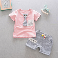 New Fashion Summer Casual Boy S Suits High Quality Cotton Children Clothing Pure Color Clothing Solid