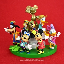 דיסני מיקי עכבר מיני 14cm פעולה יציבה איור אנימה קישוט אוסף צלמית צעצוע דגם לילדים מתנה