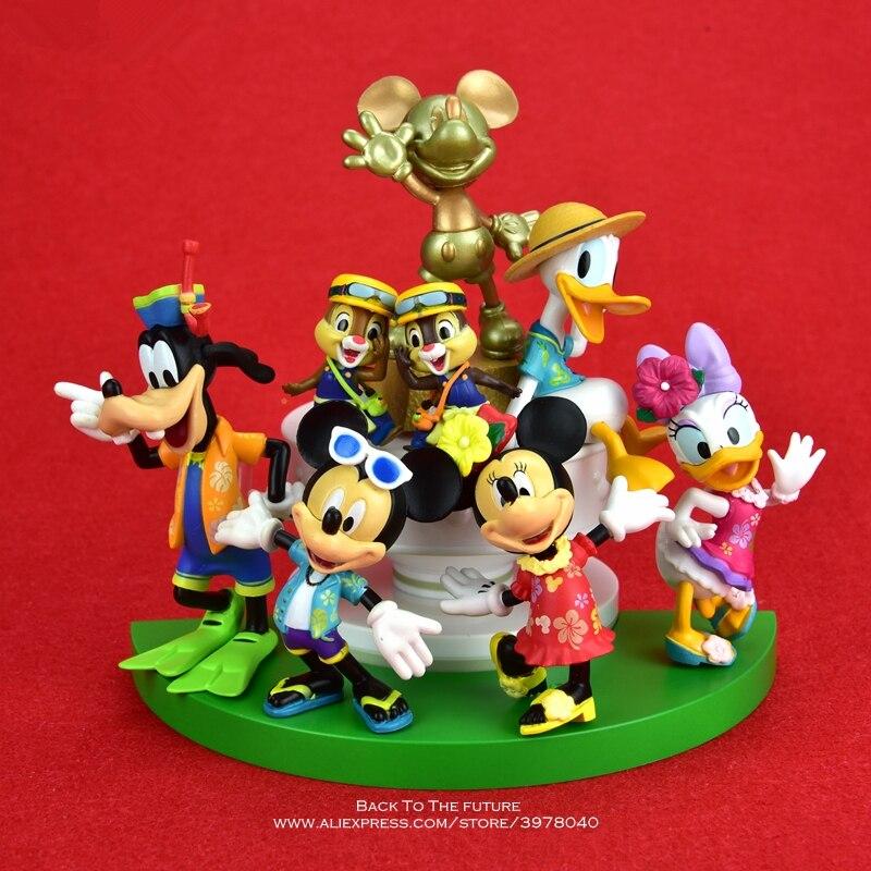 Disney Mickey souris Minnie 14cm Figurine Posture Anime décoration Collection Figurine jouet modèle pour enfants cadeau