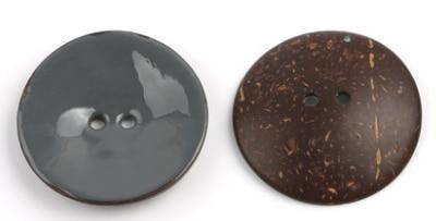Цветная круглая Кокосовая декоративная кнопка, большая Деревянная пряжка, сделай сам, пальто для одежды, Кокосовая оболочка, клеевая кнопка, Детская Кнопка 63 мм - Цвет: 10