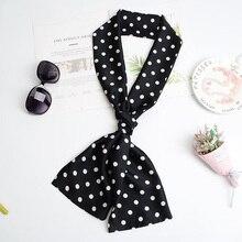 Womens Long Headband Handbag Accessories Ribbon Fashion Retro Scarf and Necktie Elegant Printed Festival