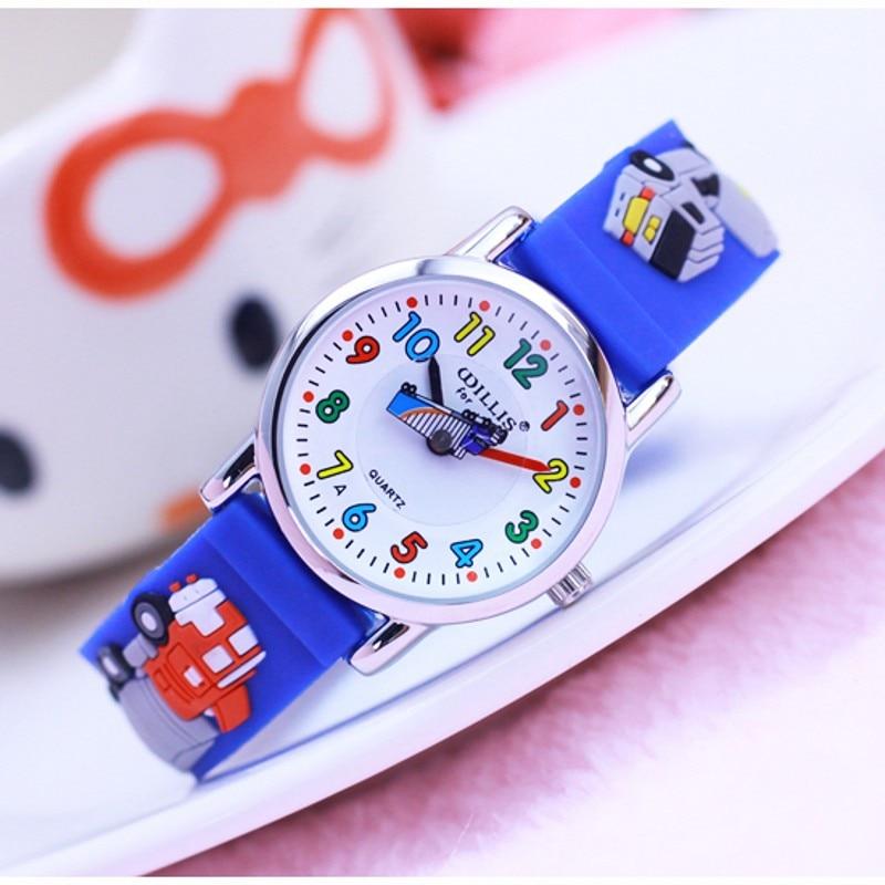 New Cars 3D Cartoon Desgin Kids Watches Children Silicone Wristwatches Brand Quartz Fashion Casual Relogio Clock Kol Saati