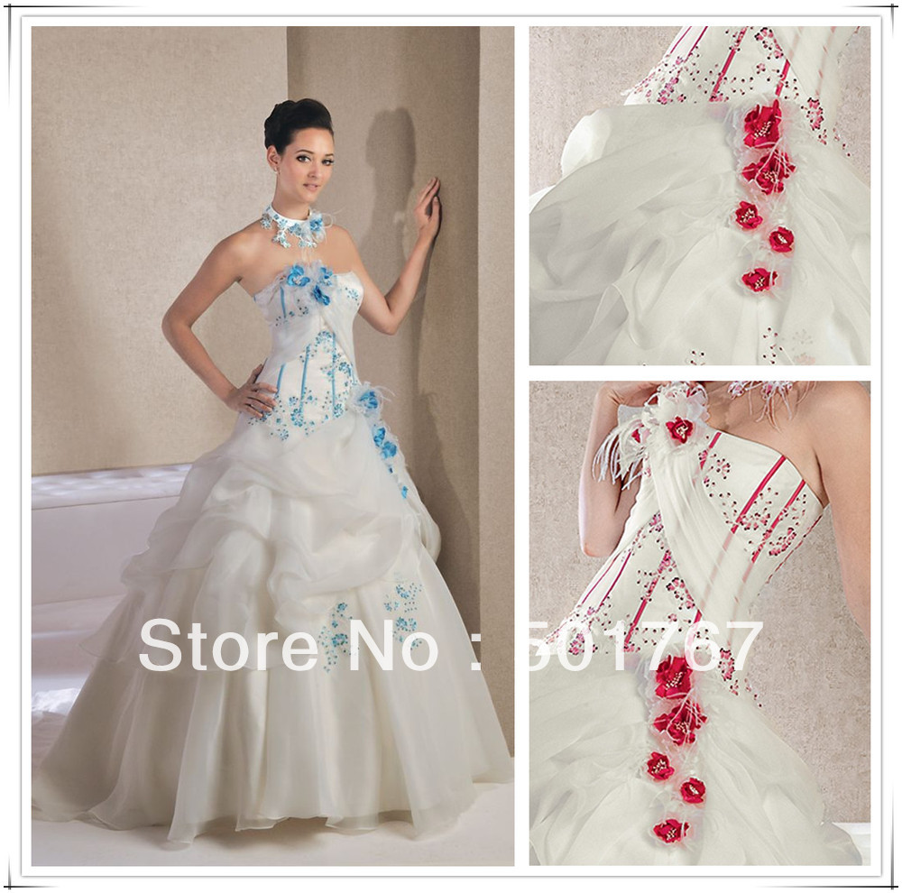 Red Rose Wedding Dresses 2013