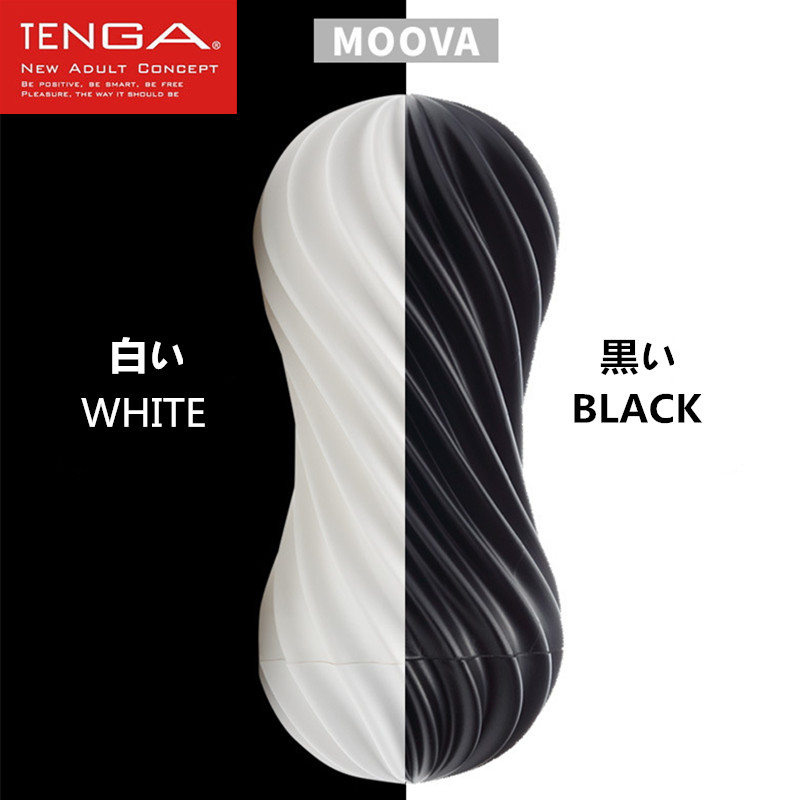 TENGA MOOVA Male Masturbator Flex Flexible Spiraling Stimulation Penis Cup Soft Silicone Vagina Real Pussy Sex