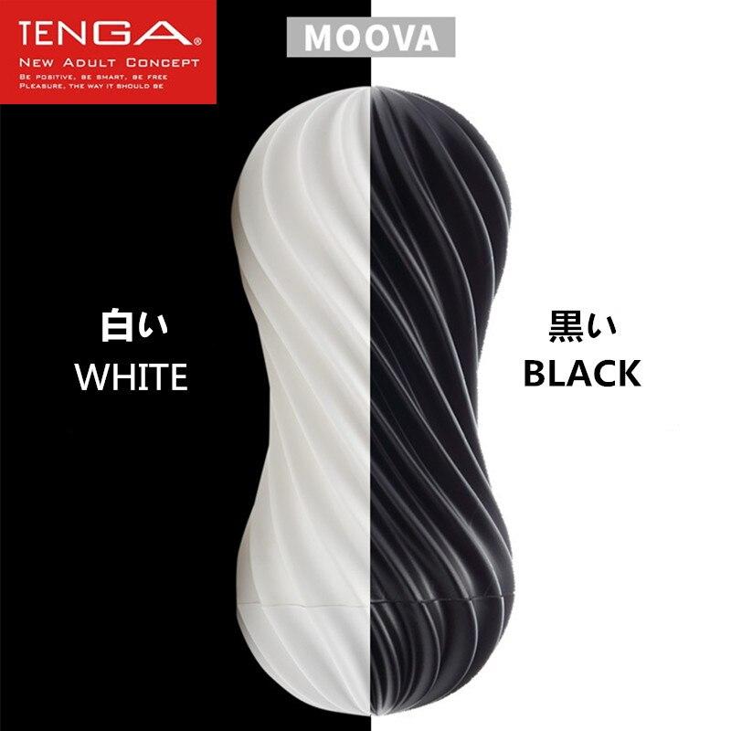 TENGA MOOVA Male Masturbator Flex Flexible Spiraling Stimulation Penis Cup Soft Silicone Vagina Real Pussy Sex toys for Men Sexo