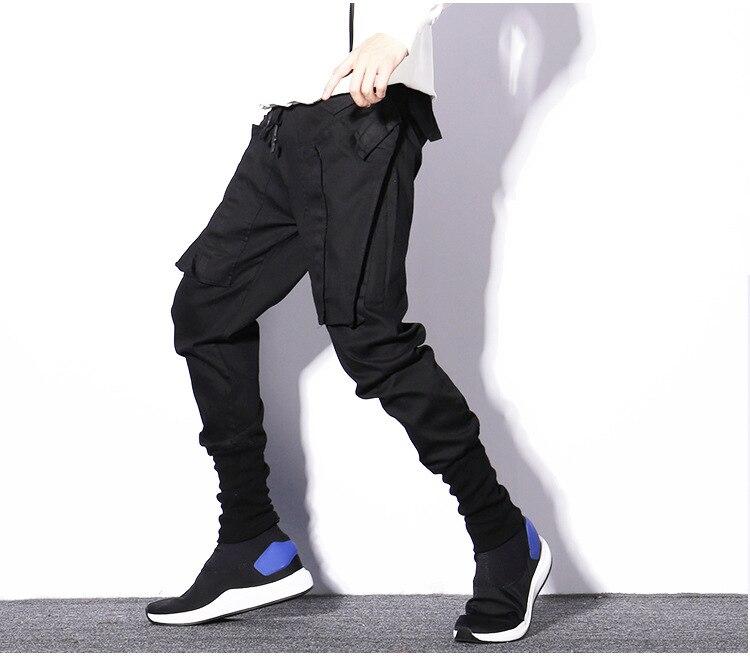 Mode Bottes Pant Homme Casual Hop Punk Streetwear Jogger Harem Noir Hip Hommes Gothique Lâche Pantalon dnFOxd