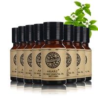 AKARZ Famous brand value meals Sandalwood Rosemary Jasmine Osmanthus Neroli Myrrh Helichrysum Eucalyptus essential Oils 10ml*8