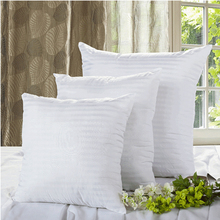 2019New Premium Quality Cotton Filled Pillow Insert 100% Hypoallergenic Soft Square Cushion Pads Inserts Fillers Scatters