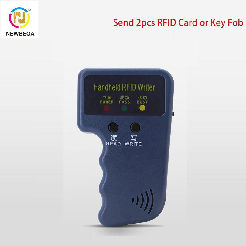 Handheld RFID ID Card Replicator Chip T5577 EM4305 Can Rewritable 125KHz Access Card  Keyfobs Copy Machine Lector Microchip