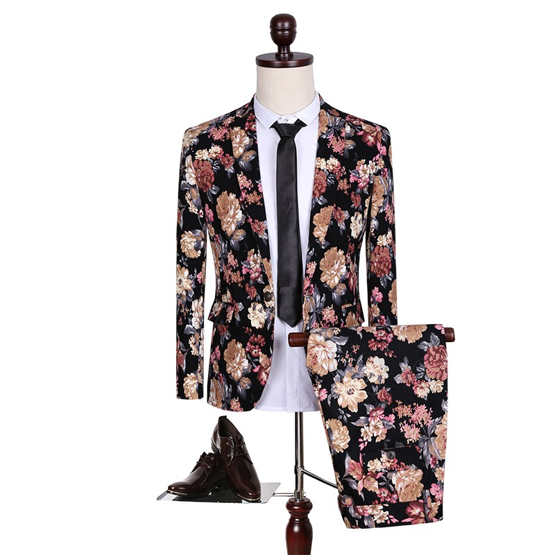 Male dress suit Design and color is a two-piece suit big yards