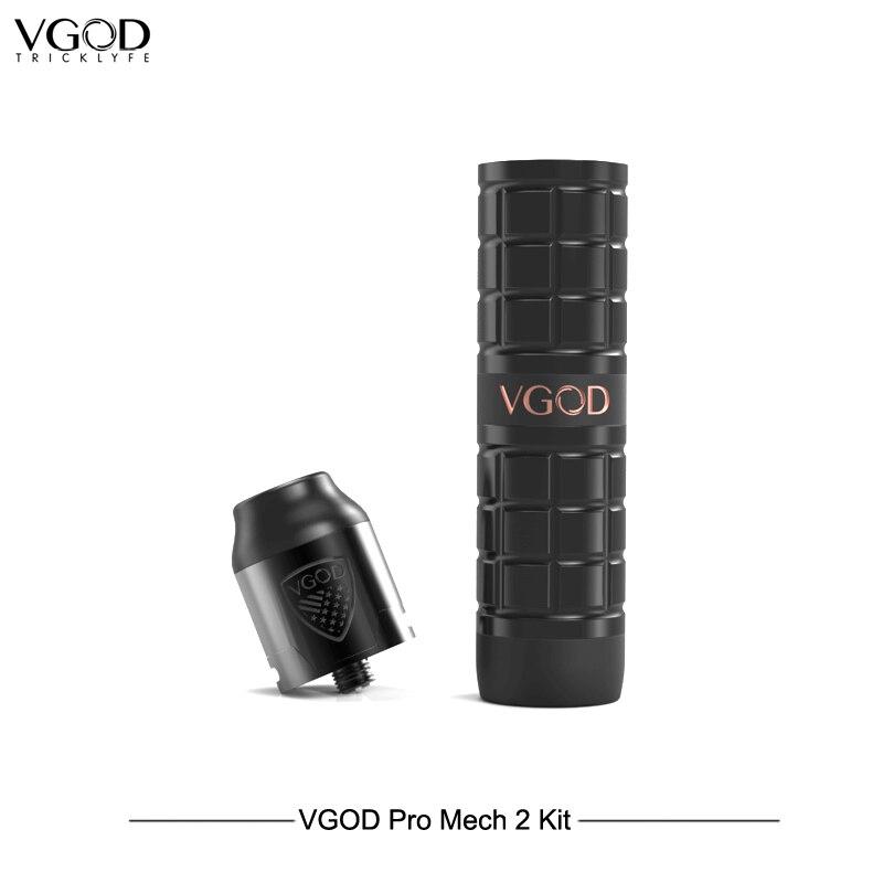Nouveauté Original VGOD Pro Mech 2 Kit avec 2 ml Original Elite Rda atomiseur Cigarettes électroniques VS VGOD ELITE 200 Vape en acier - 3