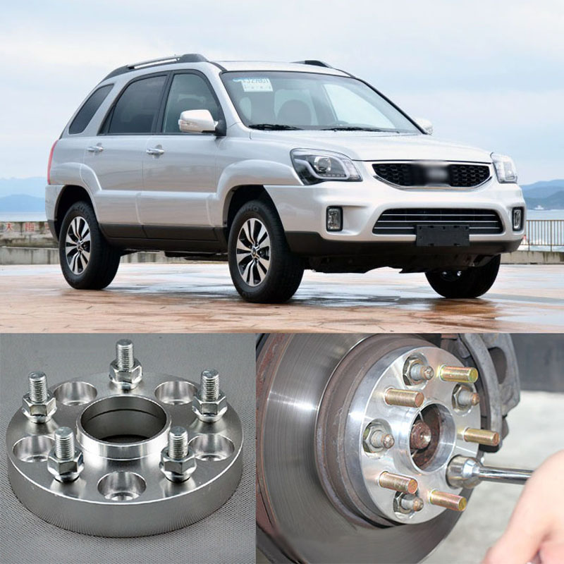 4pcs Billet 5 Lug 12x1.5 Studs Wheel Spacers Adapters For Kia Sportage/K5/Forte/Carens /Carnival/Sorento/Soul/Sportage R/Shuma 4pcs new billet 5 lug 14 1 5 studs wheel spacers adapters for bmw x5 e70 2007 2013