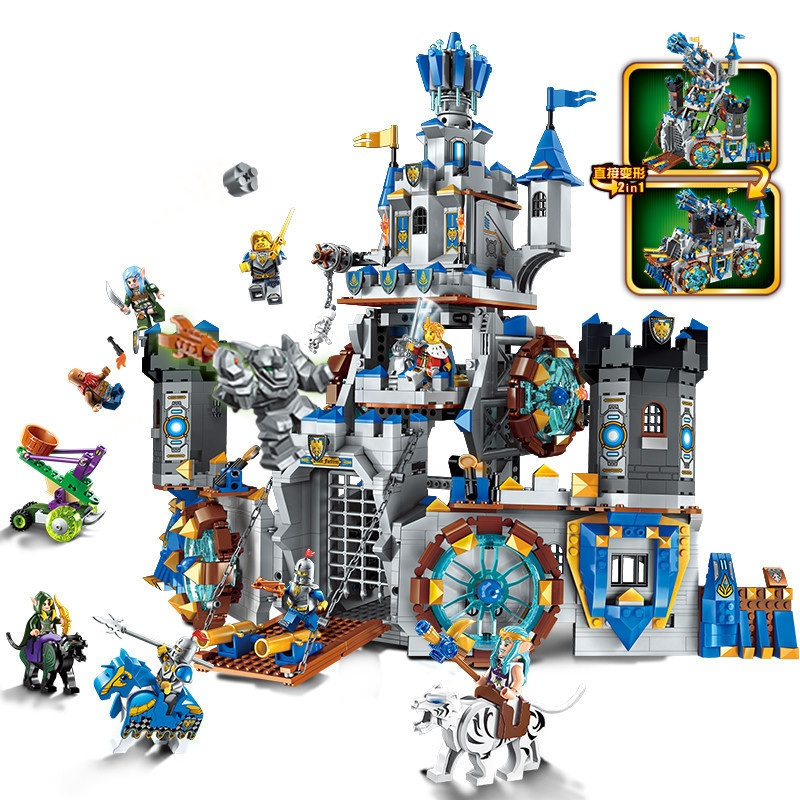 ENLIGHTEN The War Of Glory Castle Knights Battle Bunker Building Blocks Set Bricks Model Kids Toys Gift Compatible Legoe Lego lepin 14004 knights beast master chaos chariot building bricks blocks set kids toys compatible 70314 nexus knights 334pcs set