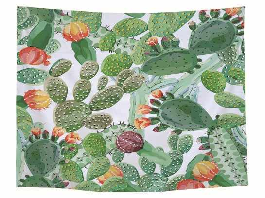 CAMMITEVER Tropical Cactus Tapestry Plant Wall Hanging Room Decor Hippie Tapestry Bohemian Dorm Decor Bedspread