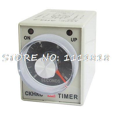 AC 220V 0-10 Sec 10 Seconds Delay Timer Timing Relay AH3-2 w 8 Pin szs hot dc 12v 0 30 seconds 30s electric delay timer timing relay dpdt 8p w base